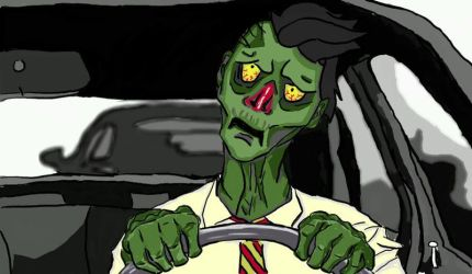 Zombie Going To Work by Get-Set-Geek