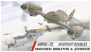 Airfix Hawker Hound + JU885 late 1960s box style by yereverluvinuncleber