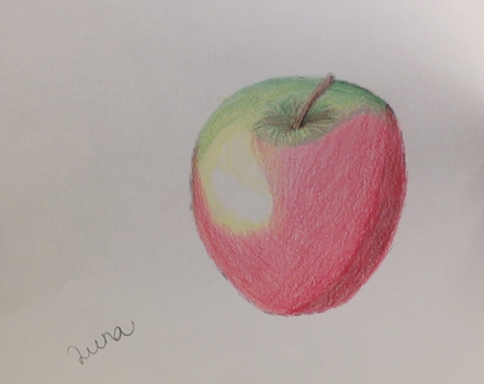 Apple drawing by maryd45