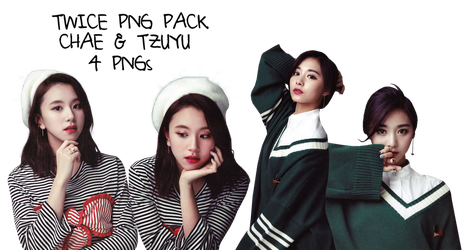 TWICE PNG PACK Tzuyu and Chaeyoung {Twicezine} HQ by soshistars