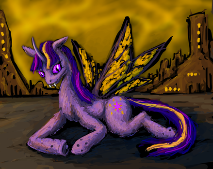 Changeling Twilight From a Fan Fiction Piece by Nighzmarquls