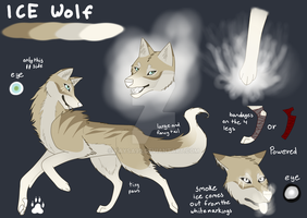 Ice wolf - Ref Sheet adopt CLOSED by Kaysa99