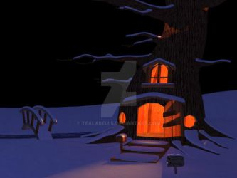 035_Night Time Snow Scene by Tealabells