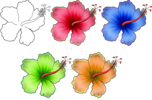 Hibiscus Tattoo by Empress-of-Time
