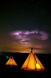 Storm and tipis by gacek