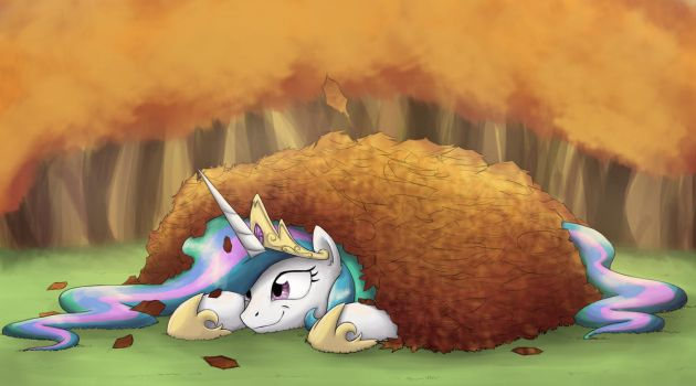 A Celestial pile of leaves by otakuap