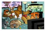 Watching the tube with chewie by travisJhanson