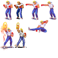 Street of Rage 2,Axel, Pixel upgrade. by Omegachaino