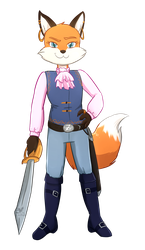 Commission: Captain Foxy by Foxhatart