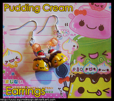 Puddings Cream Earrings by AyumiDesign