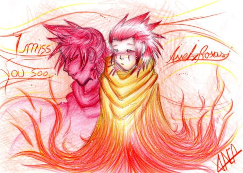 i miss you so Roxas by Valner