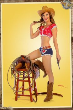 Pinups - 'Real' Cowgirl by warbirdphotographer