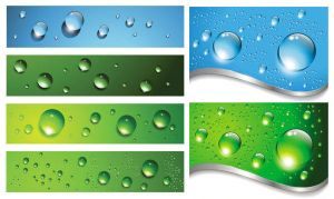 water drops background by vectorbackgrounds