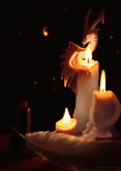 Candle Guardian by blacksapphiredragon