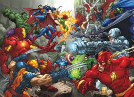 Marvel Vs DC commission by bennyfuentes