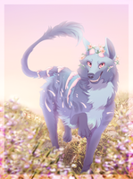 [ych] Salem's Flowery Hill by Flora-Tea