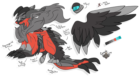 [Adoptable: Closed] Yveltal Inspired D.A.D. by CanadaLine