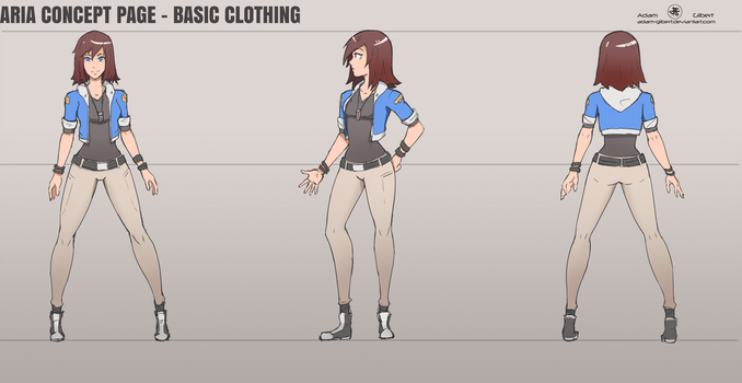 Aria Reference Sheet - Basic Clothing by Adam-Gilbert