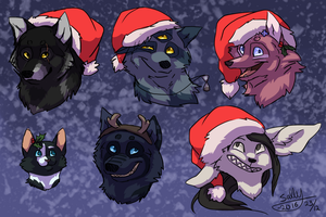 MERRY CHRISTMAS U LILL BEANS by Sally-Ce