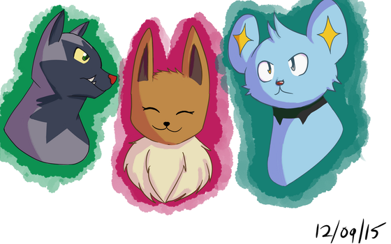 Headshots of Theia, Fenris and, Maise by Rainynights15