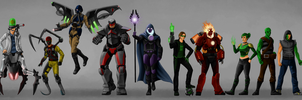 The Ultra Agents Villains by joshuad17
