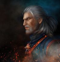 Geralt  The Witcher 3 by AlenaEkaterinburg