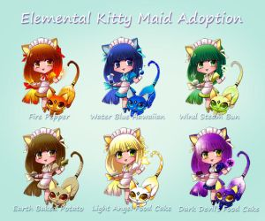 Elemental Kitty Maid Adoption by glance-reviver