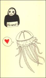 friend and jellyfish by thunderboltjackson