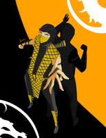 Request: Scorpion and Noob by kagiana