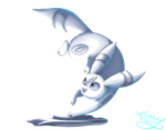 [Charity Collab]Snowmon Umbreon by SayonaraMisse