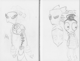 Invader Zim Doodles by NinjaObsessed