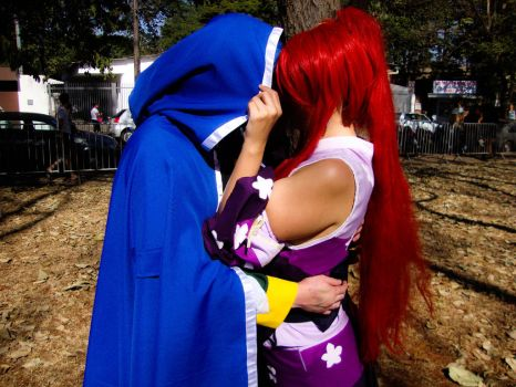 Hidden Kiss Jellal and Erza by COSPLAYTITANIA
