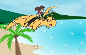 Shenny and Dragonite by JacobLionheart