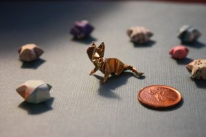 Tiny Origami Cat by thousandleaf0001