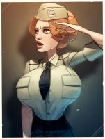 Maggie in uniform by Balsamique
