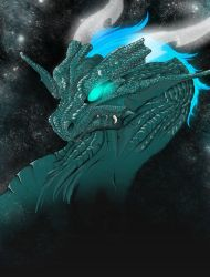 Space dragon by Sylfeanne