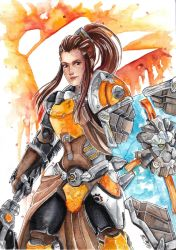 [OW] Watercolor project - Brigitte by HanzuKing