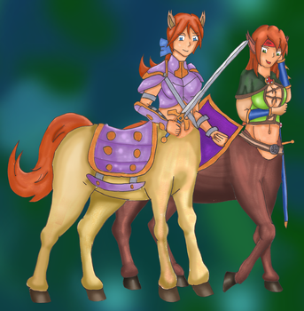 Kathalia and Sarah Centaurs by Kathalia