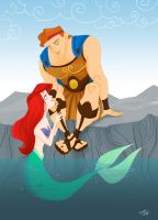 Herc and Ariel for Sarahschnee by spicysteweddemon