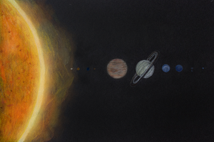 solar system drawing by 12whoami