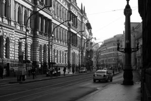 Street view of Prague. by feese