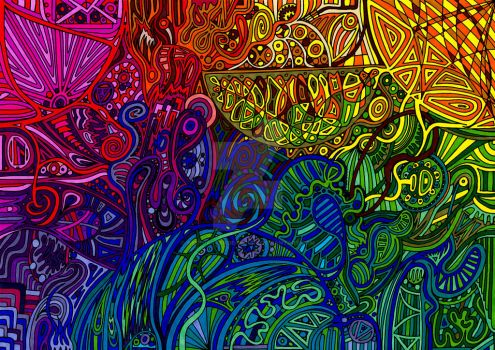 Psychedelic Abstract 293 by abstractendeavours