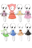 [OPEN!] Dress Adopt batch6 by safestworld
