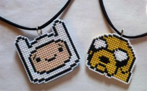 Finn and Jake best friend necklaces by starrley