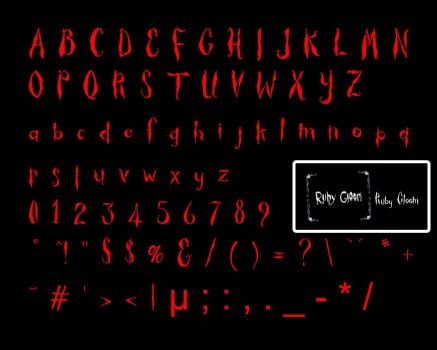 NEARLY_Ruby Gloom Fonts_ by Chrischan89