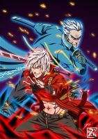 Dante and Vergil: JACKPOT by Dzoan