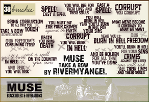 Muse Text Brushes - set 4 by RandyStoleMyKeys
