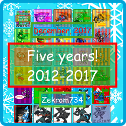 5 years of Youtubing! by Zekrom734
