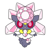 Diancie pokedoll label vector