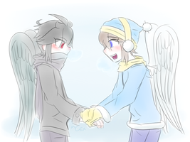 Winter Angels by chrompetitive